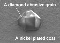 A diamond abrasive grain